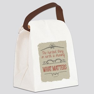 What Matters Canvas Lunch Bag