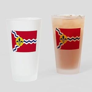 Patriotic Flag of St Louis Missouri Drinking Glass