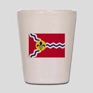 Patriotic Flag of St Louis Missouri Shot Glass