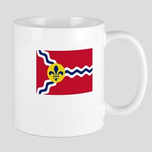 Patriotic Flag of St Louis Missouri Mugs