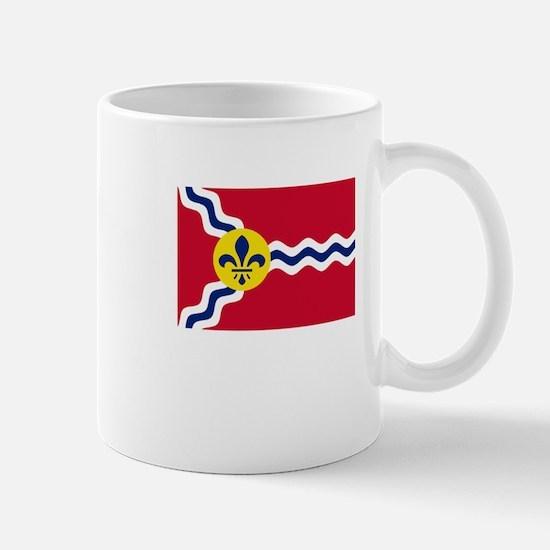 Patriotic Flag of St Louis Missouri Mugs