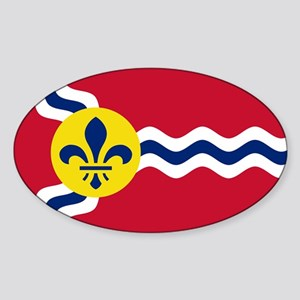 Patriotic Flag of St Louis Missouri Sticker