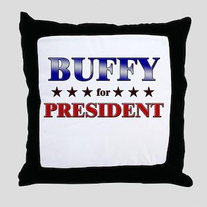 BUFFY for president Throw Pillow