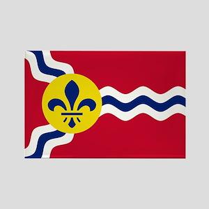 Patriotic Flag of St Louis Missouri Magnets
