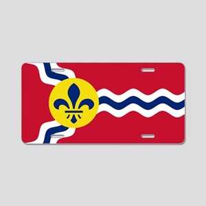 Patriotic Flag of St Louis Aluminum License Plate