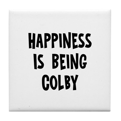 Happiness is being Colby Tile Coaster