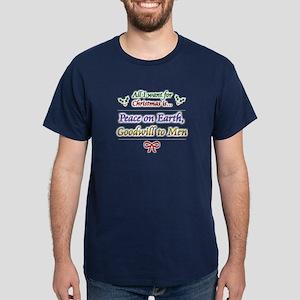 """Peace and Goodwill"" Dark T-Shirt"
