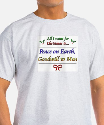 """""""Peace and Goodwill"""" T-Shirt"""