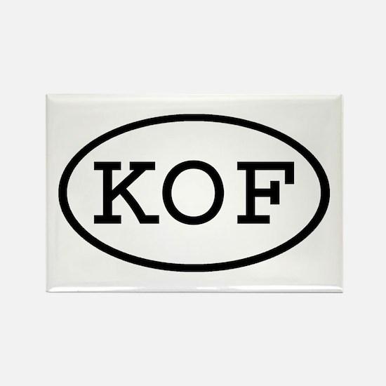 KOF Oval Rectangle Magnet