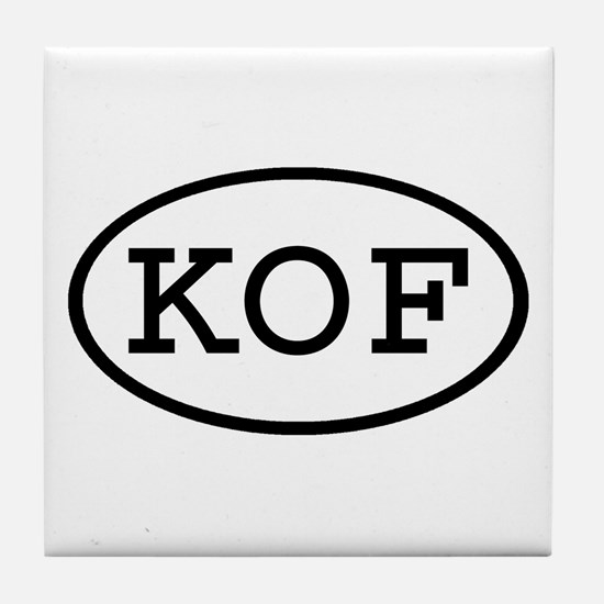 KOF Oval Tile Coaster