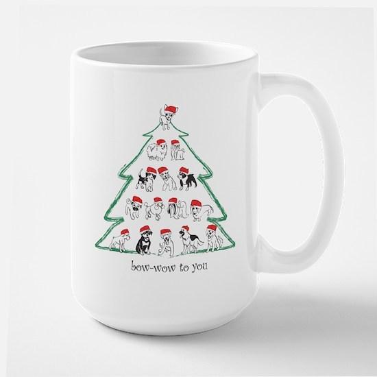 Santa Tree Large Mug