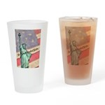 God Bless The United States Drinking Glass