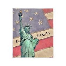 God Bless The United States Throw Blanket
