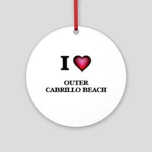 I love Outer Cabrillo Beach Califor Round Ornament