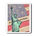 God Bless The United States Mousepad
