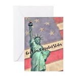 God Bless The United States Greeting Cards