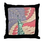 God Bless The United States Throw Pillow