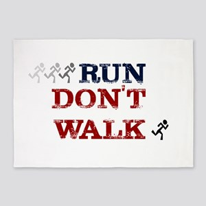 run dont walk 5'x7'Area Rug
