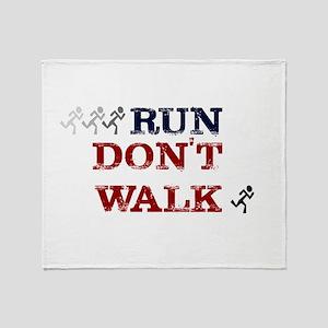 run dont walk Throw Blanket