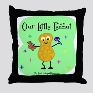 Our Little Peanut Throw Pillow