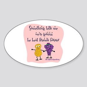 Best Friends Forever Oval Sticker