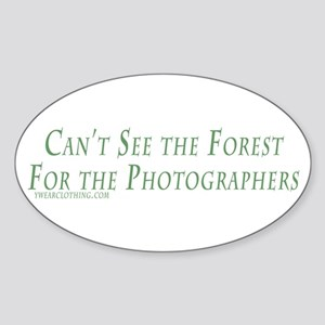 Forest for the Photographerss Oval Sticker
