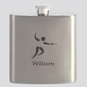 Team Fencing Monogram Flask