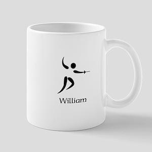 Team Fencing Monogram Mug