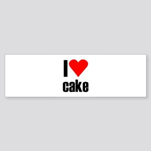 I love cake Bumper Sticker