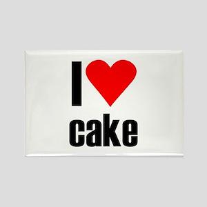 I love cake Rectangle Magnet