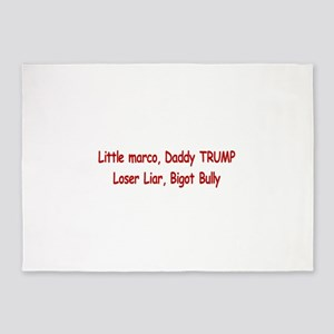 Little Marco Rubio, Daddy Trump 5'x7'Area Rug