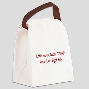 Little Marco Rubio, Daddy Trump Canvas Lunch Bag