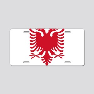 Albanian Eagle Red 56in Aluminum License Plate
