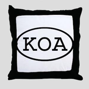 KOA Oval Throw Pillow