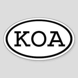 KOA Oval Oval Sticker