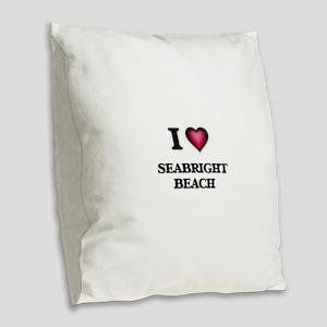 I love Seabright Beach Califor Burlap Throw Pillow