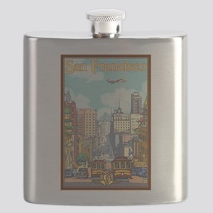 San Francisco, CA - California Street Flask