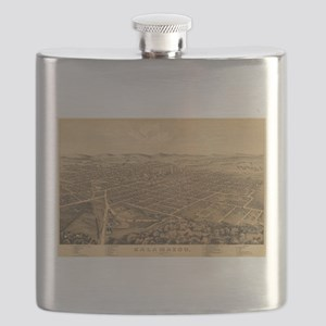 Kalamazoo, Michigan - (1874) - Panoramic Map Flask