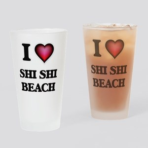 I love Shi Shi Beach Washington Drinking Glass