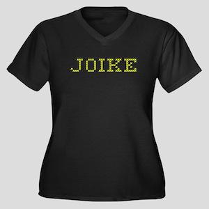 JOIKE Women's Plus Size V-Neck Dark T-Shirt