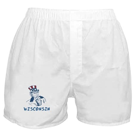 Wisconsin State Designs Boxer Shorts