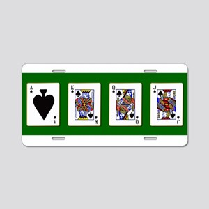 The Royal Spades Cards Aluminum License Plate