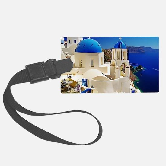 Cute Santorini Luggage Tag