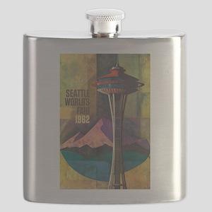 Seattle, WA - Space Needle World's Fair Flask