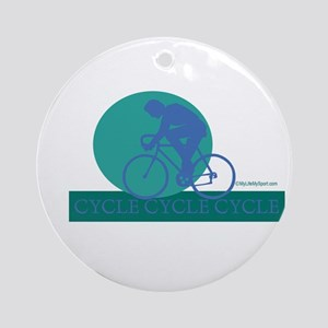 CYCLE CYCLE CYCLE Ornament (Round)
