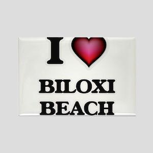 I love Biloxi Beach Mississippi Magnets