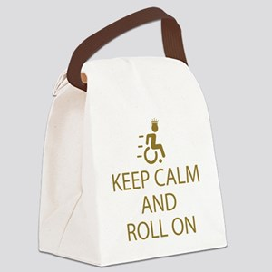 Keep Calm and Roll On Canvas Lunch Bag