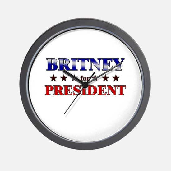 BRITNEY for president Wall Clock