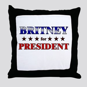 BRITNEY for president Throw Pillow