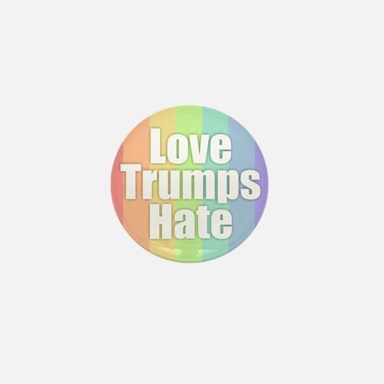 Love Trumps Hate - Rainbow Mini Button